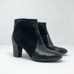 Aquatalia by Marvin K Leather Suede Ankle Boots
